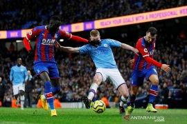 10 menit dramatis, Man City imbang 2-2 lawan Palace
