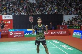 Adu strategi Anthony Ginting dan Antonsen di final Indonesia Masters