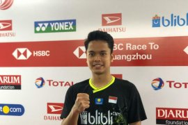 Anthony Ginting terharu raih gelar tunggal putra Indonesia