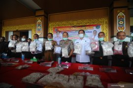 S Kalimantan records the biggest catch of 32.6 Kg drug