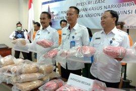 BNNP Bali gagalkan peredaran 29 kg ganja jaringan Medan-Bali