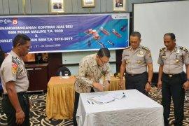 Pertamina MOR VIII - Polda Maluku kerja sama kontrak jual beli BBM