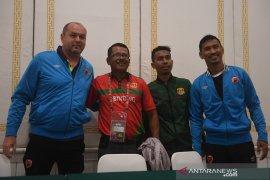 Konferensi pers PSM Makassar - Lalenok United, Timor Leste