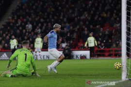 Man City atasi Sheffield United, Aguero jadi pembeda