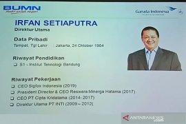 Irfan Setiaputra, mantan Direktur Utama PT Inti jadi  'pilot baru' Garuda Indonesia