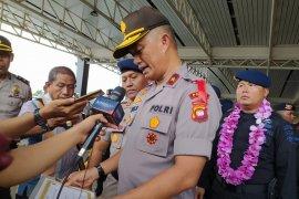Sebanyak 100 anggota Brimob tiba di Pontianak usai bertugas di Papua