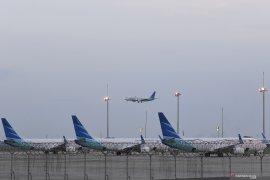 Garuda semprot pesawat dengan cairan khusus cegah virus  corona