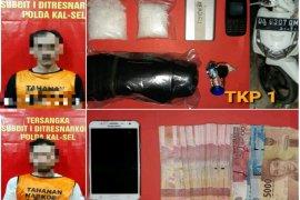 Polda Kalsel sita 201,08 gram sabu-sabu, dua pengedar ditangkap