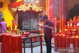 Ribuan warga Tionghoa Babel kunjungi klenteng tertua di Pangkalpinang