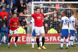 Maguire cetak gol saat MU gasak Tranmere 6-0