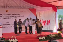 Jokowi resmikan Terowongan Nanjung di Kabupaten Bandung