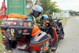 Kepulangan Lilik Gunawan yang gunakan motor ke Mekkah disambut Wali Kota Jambi