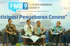 Virus corona - Kemenkes tegaskan tidak ada kasus positif virus corona di Indonesia