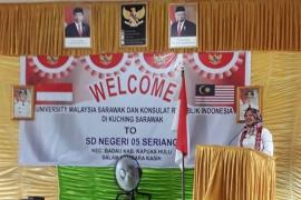 Universitas Malaysia kunjungi SD di batas Indonesia - Malaysia