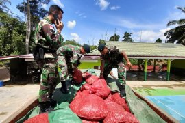 Satgas Pamtas 641 amankan sebanyak 5,4 ton bawang merah