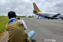 Tiga pesawat pembawa WNI dari Wuhan tiba