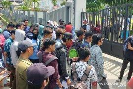 Mahasiswa demo tuntut dugaan korupsi Pasar Rawa Indah Bontang