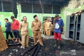 Sekda Tamzil tinjau lokasi kebakaran di MAN 1 HST