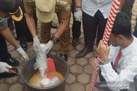 Polres Sanggau musnahkan barang bukti sabu