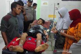 Kiosnya terbakar, seorang remaja di Aceh Jaya alami luka bakar