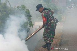 Babinsa Kasarangan basmi sarang nyamuk dengan fogging