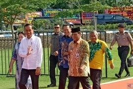 Presiden Joko Widodo tiba di arena utama HPN 2020