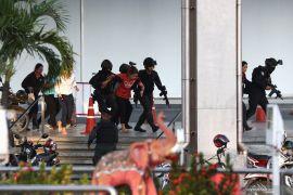 Polisi tembak mati tentara pembunuh di mal perbelanjaan Thailand