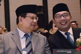 Ridwan Kamil bersilaturahmi dengan Prabowo