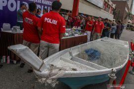 Polisi gagalkan penyelundupan 35 kilogram sabu-sabu asal Malaysia