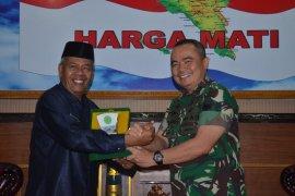 Pangdam IM terima audensi ketua Mahkamah Syariah Aceh