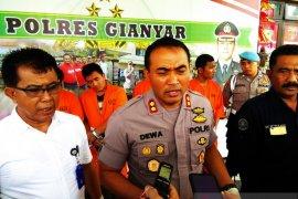 Polres Gianyar tangkap empat tersangka narkoba