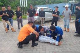 BPBD Gorut gelar simulasi gempa bumi bagi pekerja PLTU Anggrek