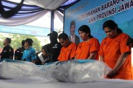 BNNP Jatim musnahkan 8,1 kilogram sabu-sabu asal Malaysia