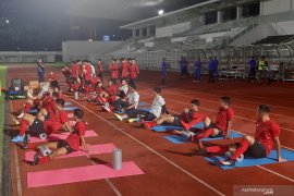 Shin Tae-Yong fokus pemulihan kondisi fisik pemain di latihan perdana timnas