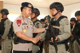 Polda Bengkulu kirim 100 personil Brimob ke Papua