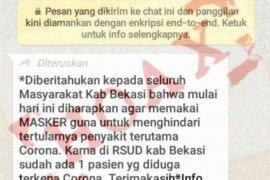 Hoaks virus corona di Bekasi meresahkan