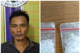 Polisi tangkap pemilik narkotika saat keluar dari kamar mandi SPBU Hinai