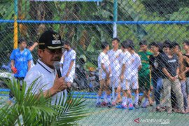 Warga gelar pertandingan  futsal dan mancing sambut HUT Kota Tangerang