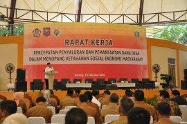 Gubernur Banten ingatkan kades  hati-hati kelola Dana Desa