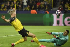 Dwigol Haaland bawa Dortmund bungkam PSG