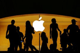 Virus corona ancam rantai pasokan Apple, penjualan dan sahamnya jatuh