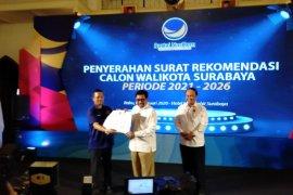 NasDem resmi serahkan rekomendasi bakal cawali Surabaya ke Machfud Arifin