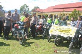 Polres Jayawijaya tahan belasan sepeda motor milik polisi