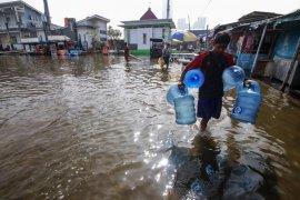 Banjir genangi sejumlah wilayah Jakarta akibat hujan deras