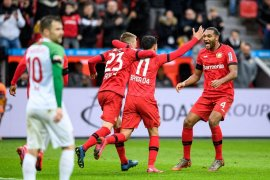Leverkusen tundukkan Augsburg 2-0 di  Liga Jerman