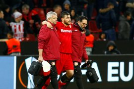 Penyerang Leverkusen Kevin Volland akan absen sampai akhir musim