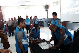 Ratusan putra daerah Papua Barat jalani seleksi calon Bintara Polri