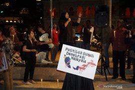 Unjuk rasa berlangsung di Dataran Merdeka Kuala Lumpur sehubungan perubahan perpolitikan