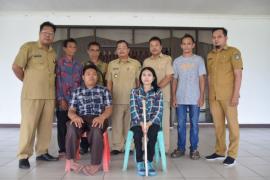 Pelepasan 2 penyandang disabilitas pelatihan keterampilan di Makasar