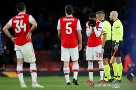 Pemain Arsenal dikarantina terkait corona, laga vs Man City resmi ditunda